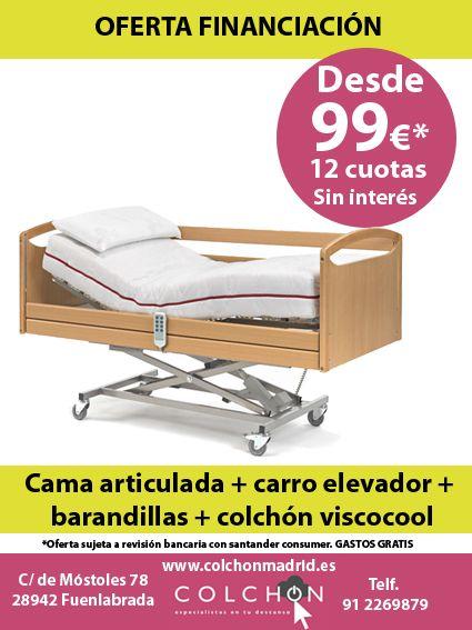 Conjunto oferta cama articulada GERIÁTRICA