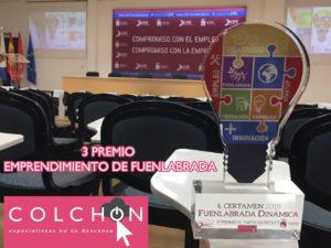 Tienda Colchón, premiada con el 3 puesto en los Premios al emprendimiento de Fuenlabrada