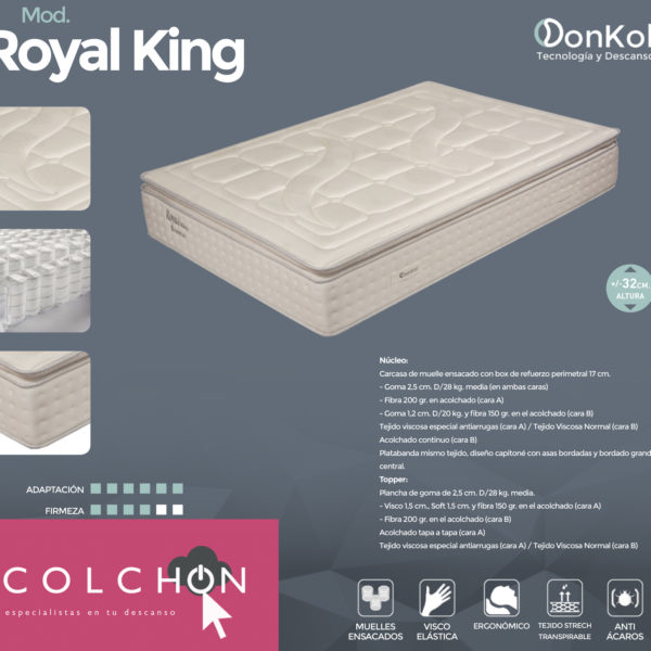 Ficha Colchón Royal King de Donkol