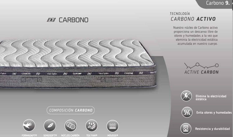 caracteristicas colchon carbono marpe
