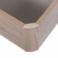 Canapé arcón XL de madera esquina