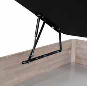 Canapé arcón XL de madera hidráulicos